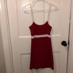 Red and white Brandy dress